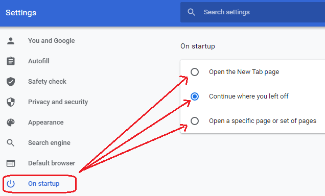 Interesting Use of Google Chrome - Startup setting
